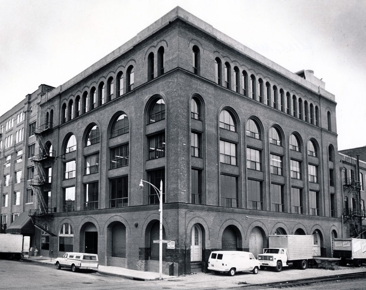 Shot September 27, 1978 - West End district of downtown Dallas - Kingman-Texas Building - 209-11 Record Street - built in 1907