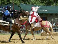 El Scarborough Rennaissance Festival recrea batallas medievales.