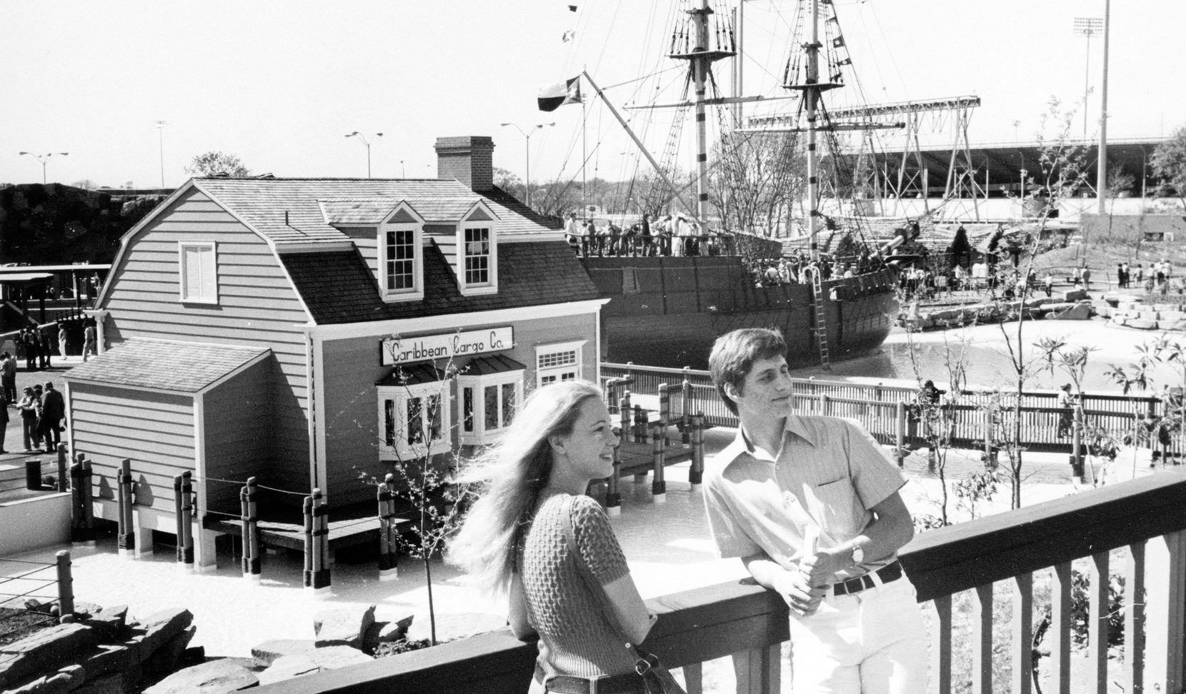Visitors enjoyed the sunshine on opening day of Seven Seas on March 18, 1972.