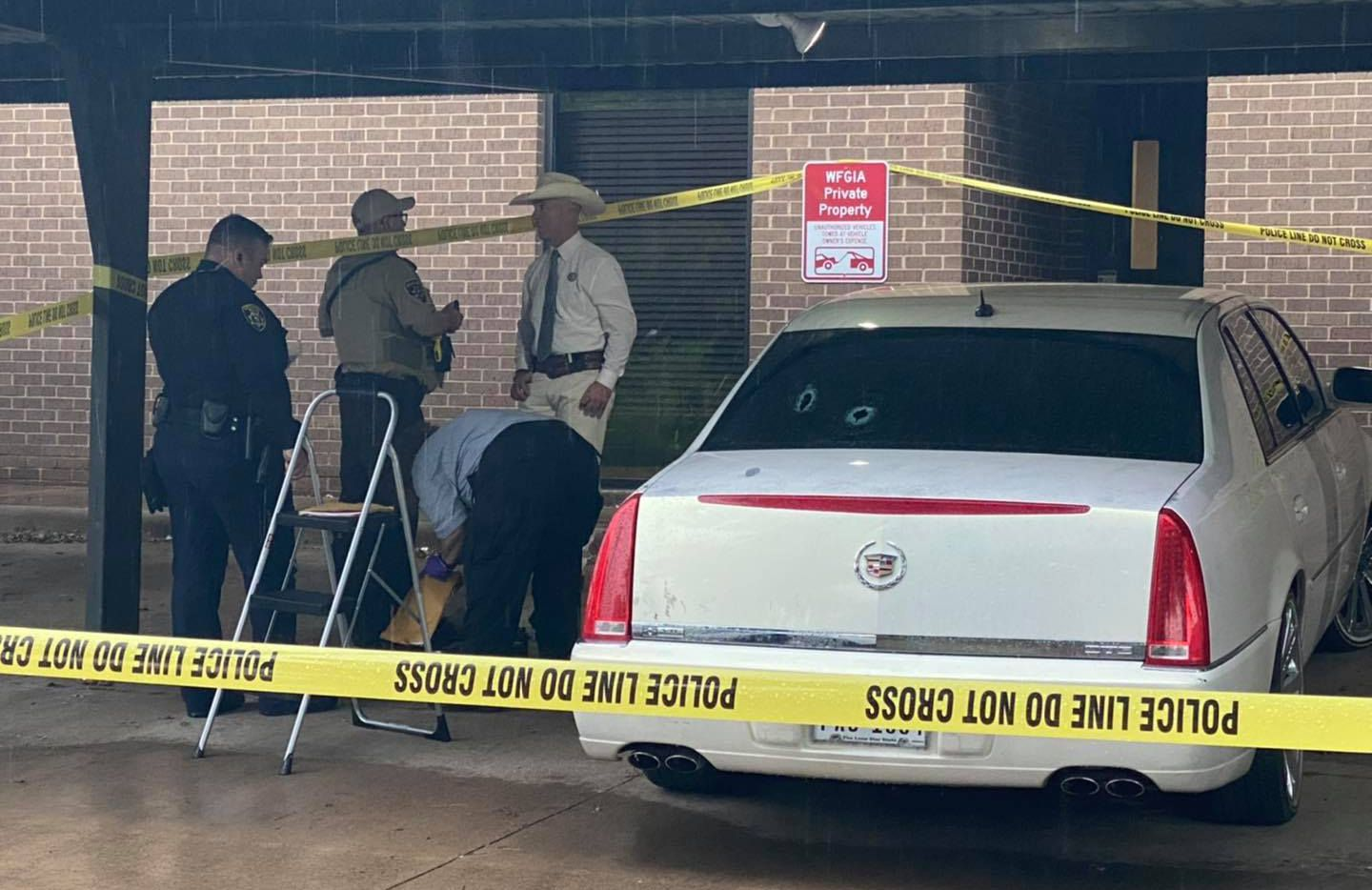 Authorities located the suspect vehicle in Wichita Falls on Tuesday morning.