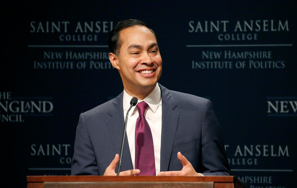 Julian Castro, former U.S. Secretary of Housing and Urban Development and candidate for the 2020 Democratic presidential nomination, spoke at Saint Anselm College on Wednesday, Jan. 16, 2019, in Manchester, N.H.