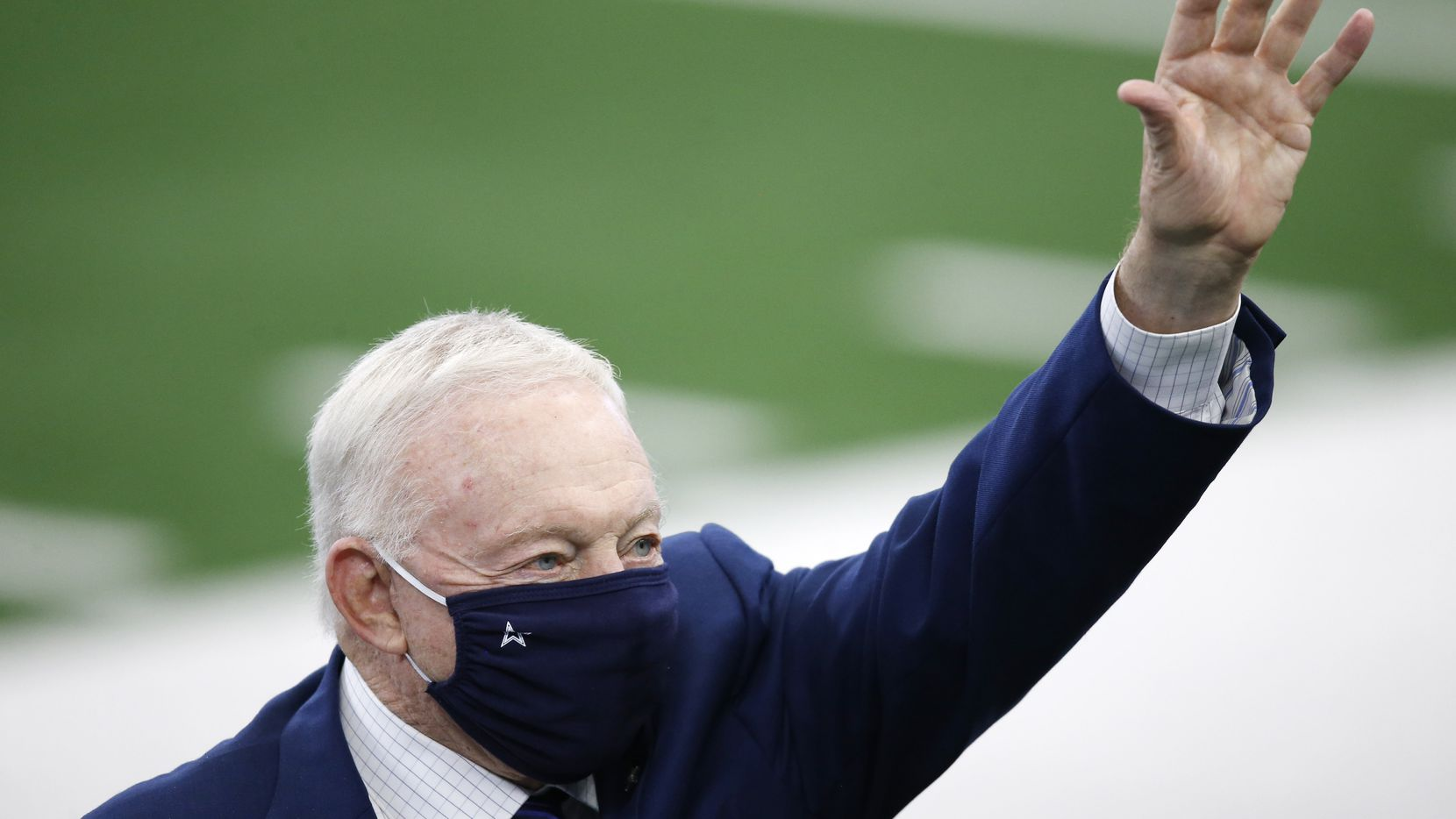 An group opposing President Donald Trump on Tuesday sought to sway undecided Philadelphia Eagles fans by flying a banner over Philly that accused the president of loving the Dallas Cowboys and the team's owner, Jerry Jones. (Vernon Bryant/The Dallas Morning News)