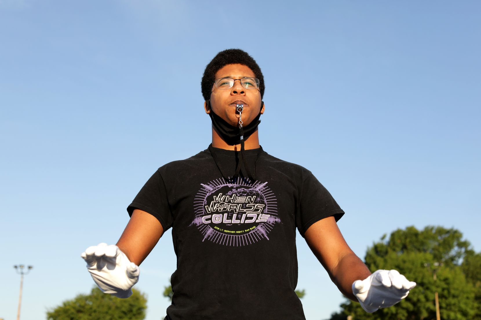 "Senior David Bennette, one of the Mighty Ram Band's three drum majors this fall, says the band's virtual performances have provided ""a sliver of hope at a time when you can lose hope."""