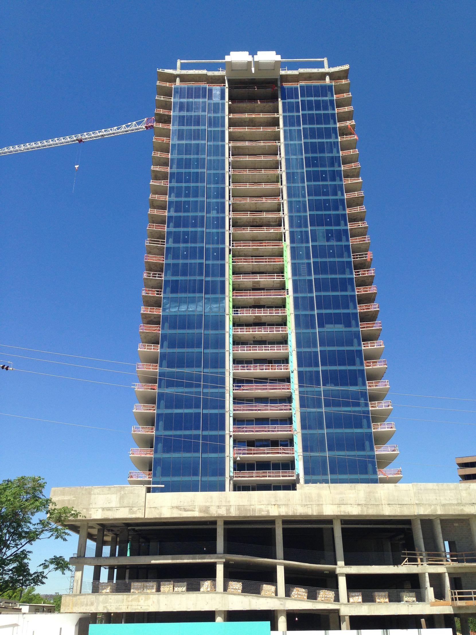 The Bleu Ciel tower has more than 150 condos.