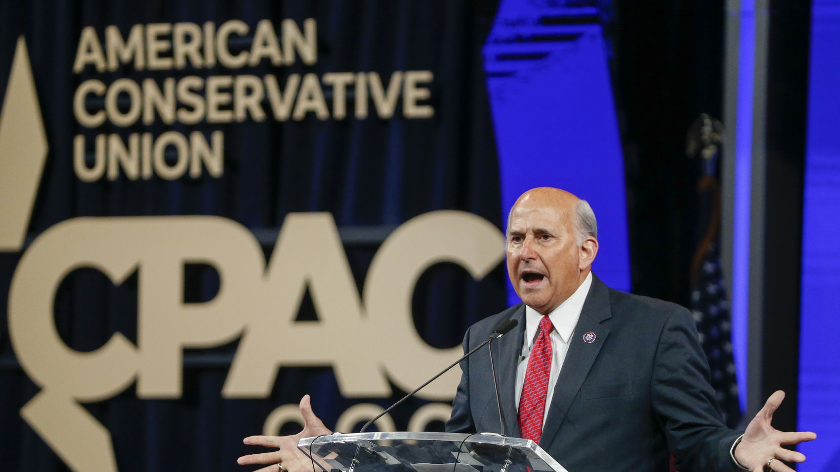 Rep. Louie Gohmert speaks at the Conservative Political Action Conference on Sunday, July 11, 2021, at the Hilton Anatole in Dallas.