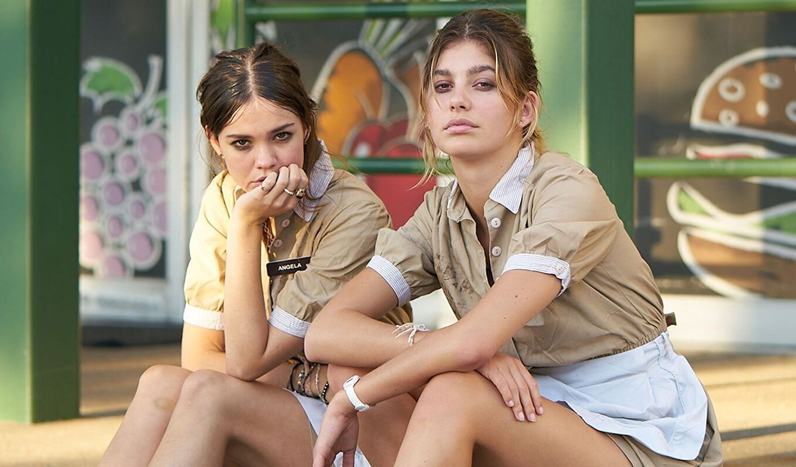 Maia Mitchell (left) and Camila Morrone star in Never Goin' Back.