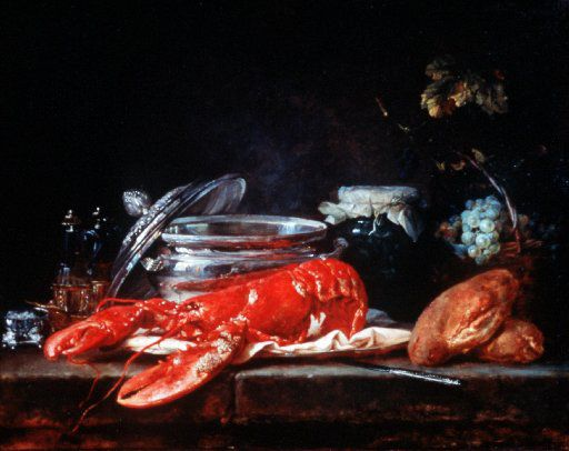 1781.. Anne Vallayer-Coster, Still Life with Lobster, 1791; Oil on canvas.