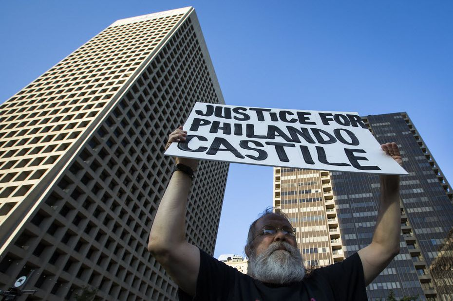 John Fullinwider, co-founder of Mothers Against Police Brutality,  participated in a Black Lives Matter rally in downtown Dallas July 7. He believes that even short-lived movements can make a difference.