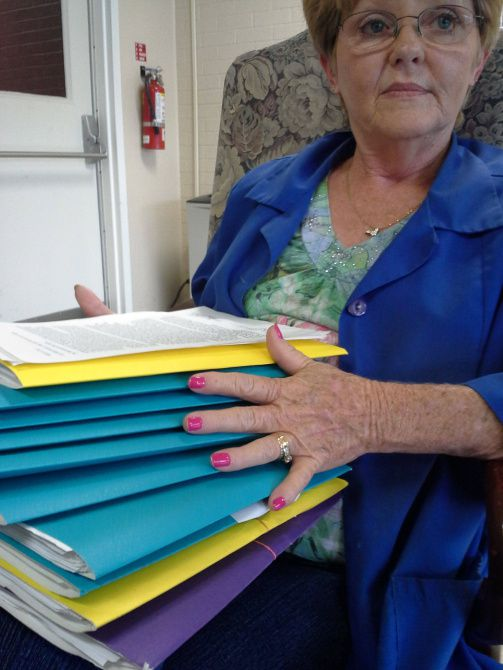 Kathy Hagler has collected more than 1,500 signatures at her family-owned supermarket on petitions calling for the reopening of Shelby Regional Medical Center.