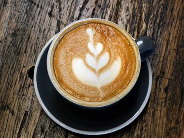 A cup of latte at Hands + Rose Coffee, located inside of Upper Room Dallas. WalletHub ranked Dallas 30th in the nation in best coffee cities.