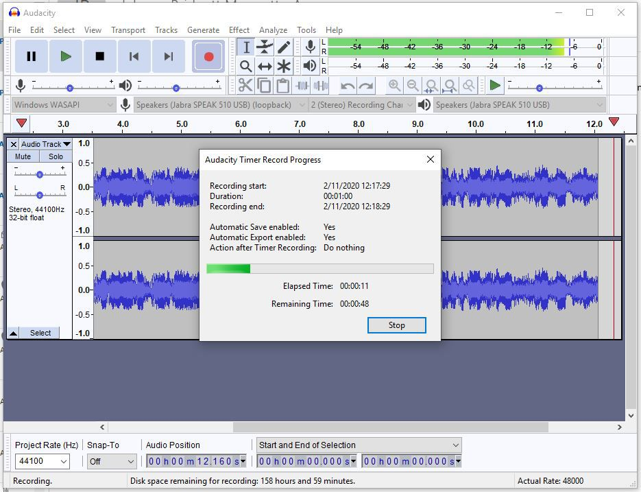 Audacity can record your system audio and lets you set a timer for future recording.