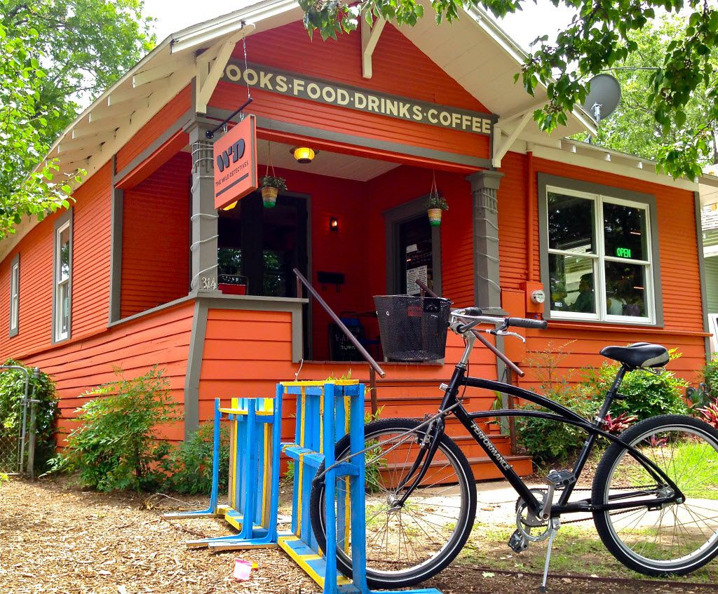 FD magazine August 2014 issue. The Wild Detectives bookstore, bar and coffee shop near the Bishop Arts District of North Oak Cliff. Photograph by Christopher Wynn/FD deputy editor.