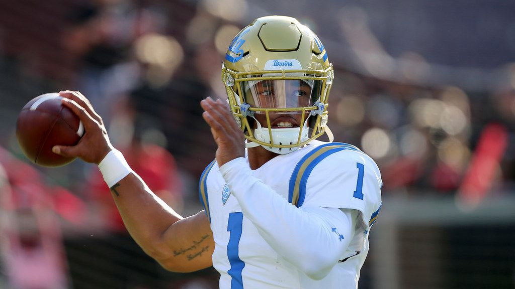 UCLA quarterback Dorian Thompson-Robinson during an NCAA football game on Thursday, Aug. 29, 2019 in Cincinnati.