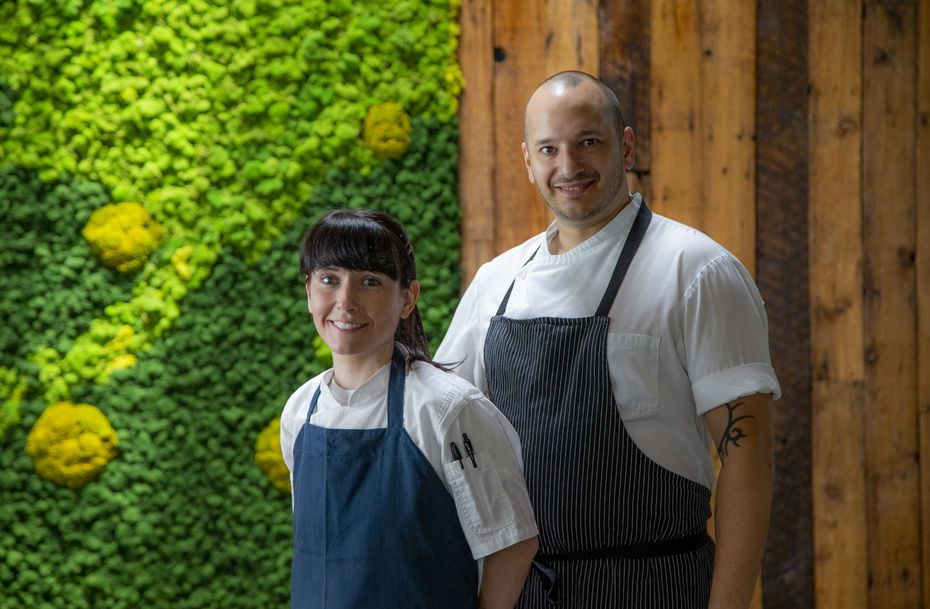 Amy and Casey LaRue are the owners of Carte Blanche in Dallas, a new restaurant on Greenville Avenue. It has a 4- and a 12-course tasting menu.