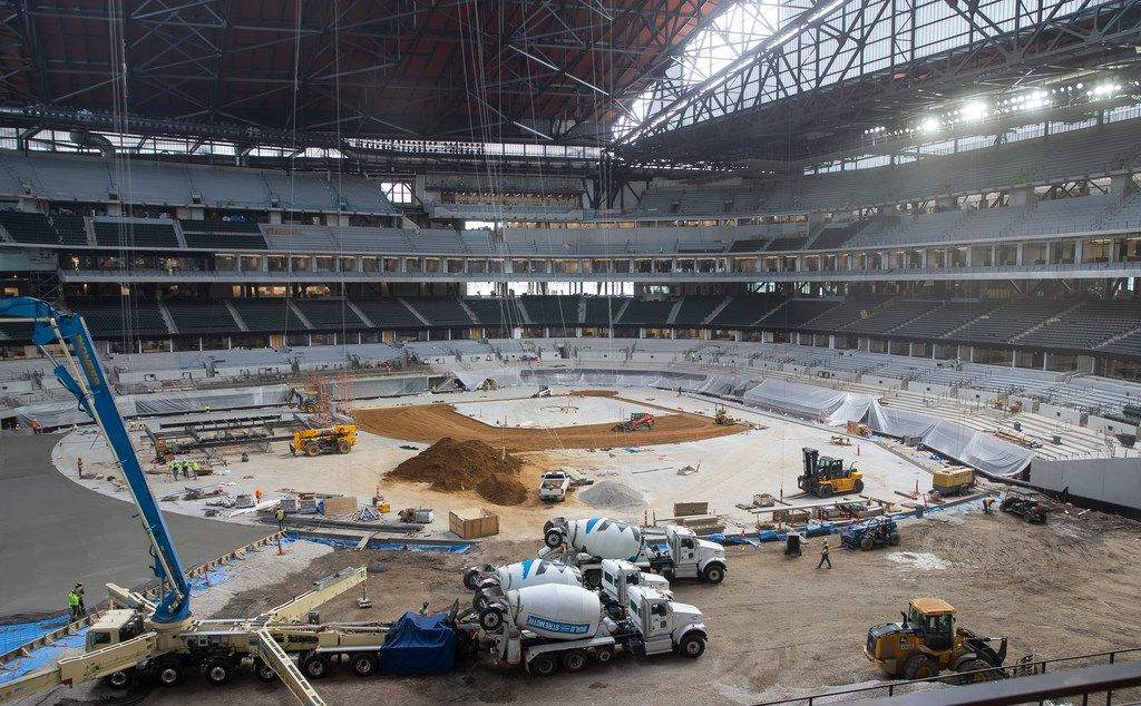 The inside of Globe Life Field is pictured during the Rangers' Peek at the Park fan fest on Saturday, Jan. 25, 2020 in Arlington.