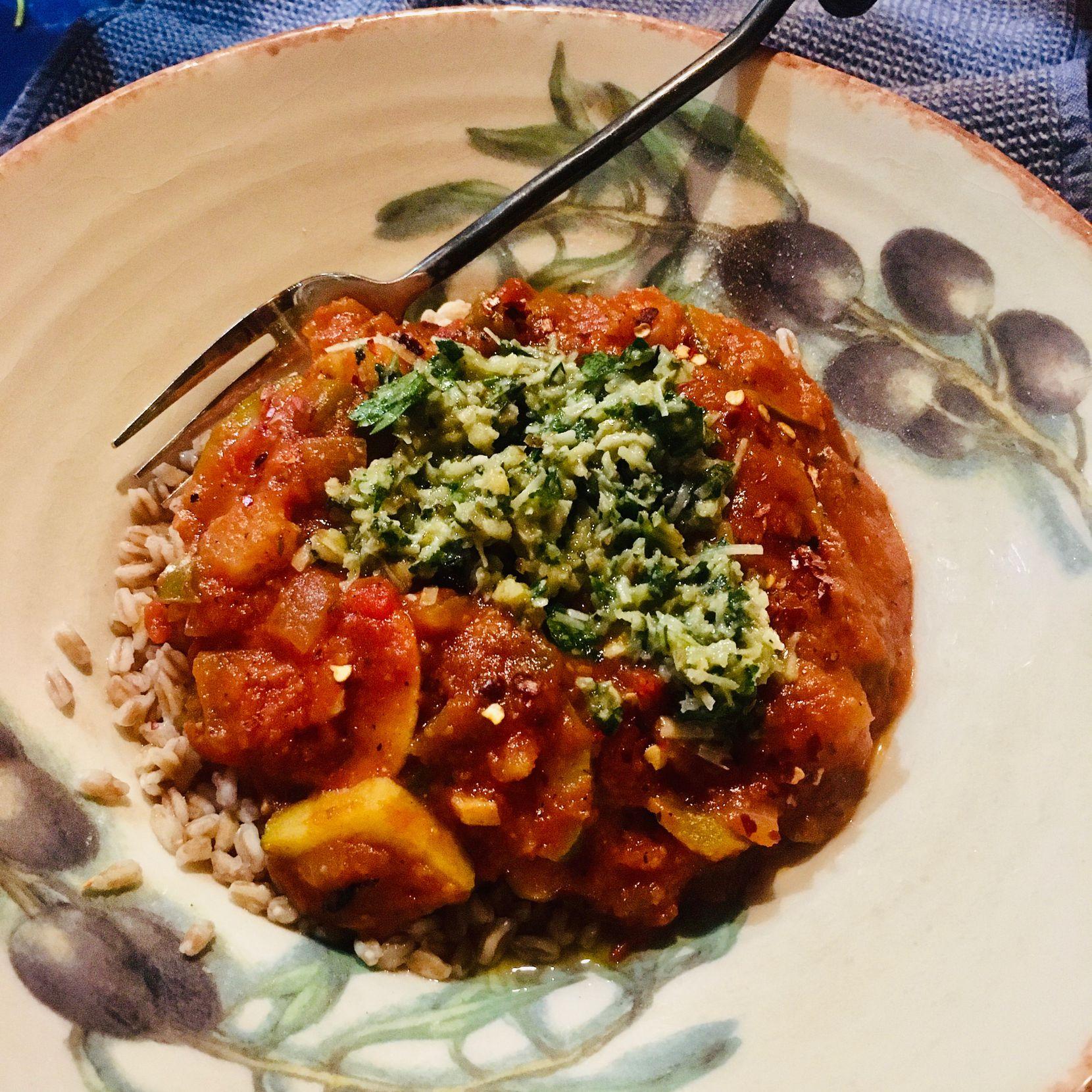 Farro Roasted Tomato Bowl