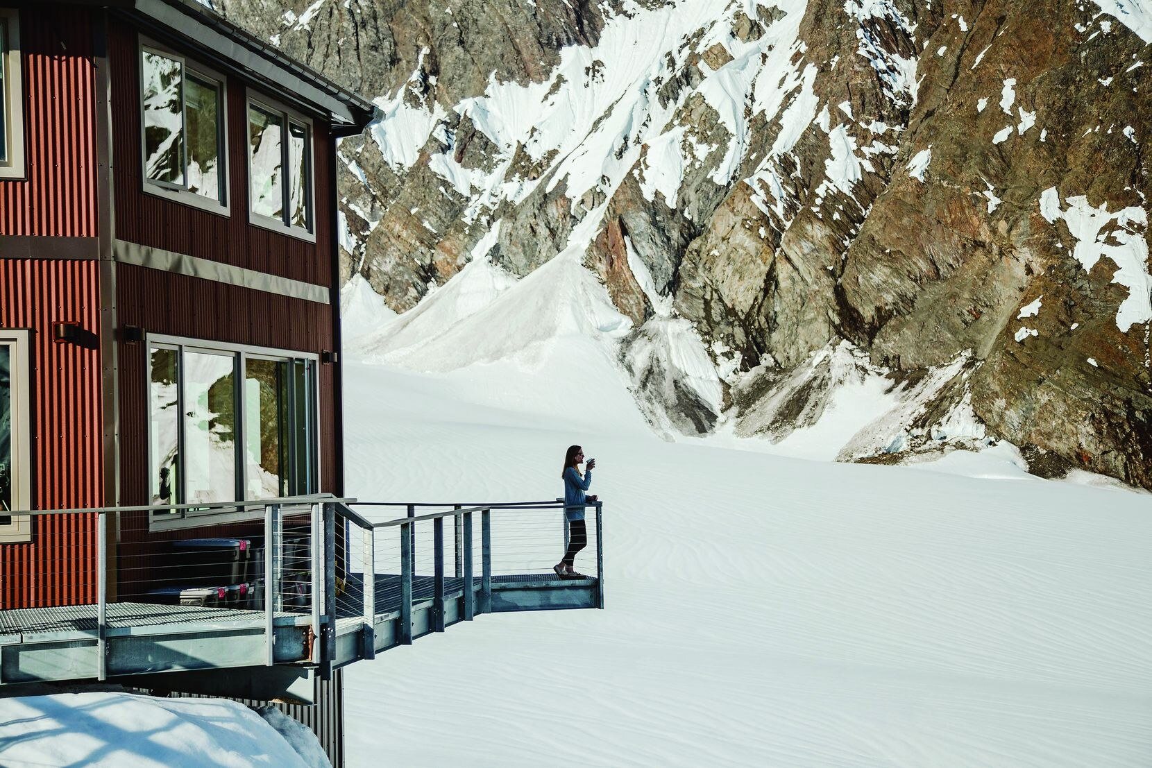 More than 70 years ago, while mapping the Alaska Range, pilot Don Sheldon discovered this remote location. He built the Sheldon Mountain House in 1966. A new building was added by his children in 2018, using Don s original plans, which envisioned a bold monument, a haven among the peaks, just 10 miles from Denali's summit. A trip to the chalet is a $345,000 fantasy gift in the Neiman Marcus Christmas Book in 2020.