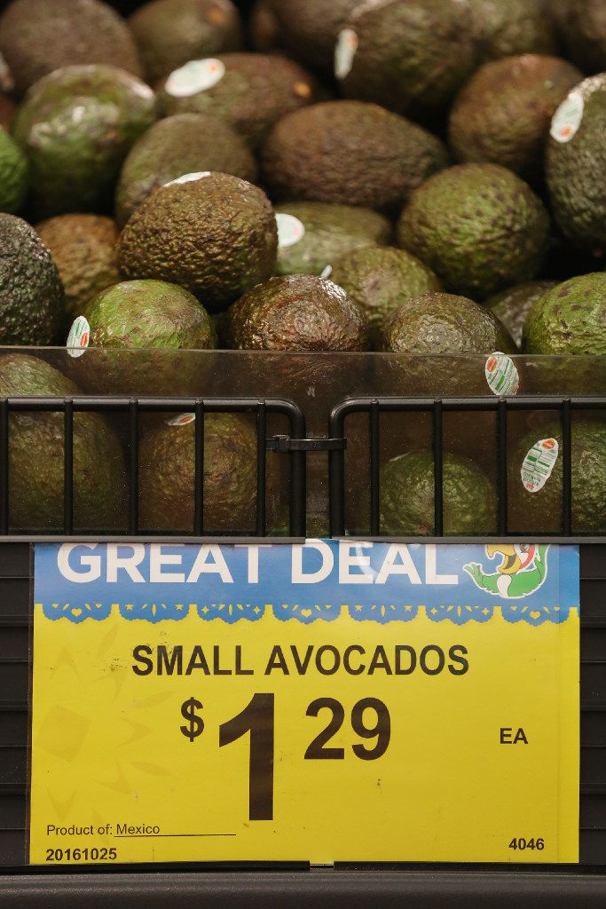 The avocado stand in the produce department at Fiesta in Arlington, Texas Thursday October 27, 2016.