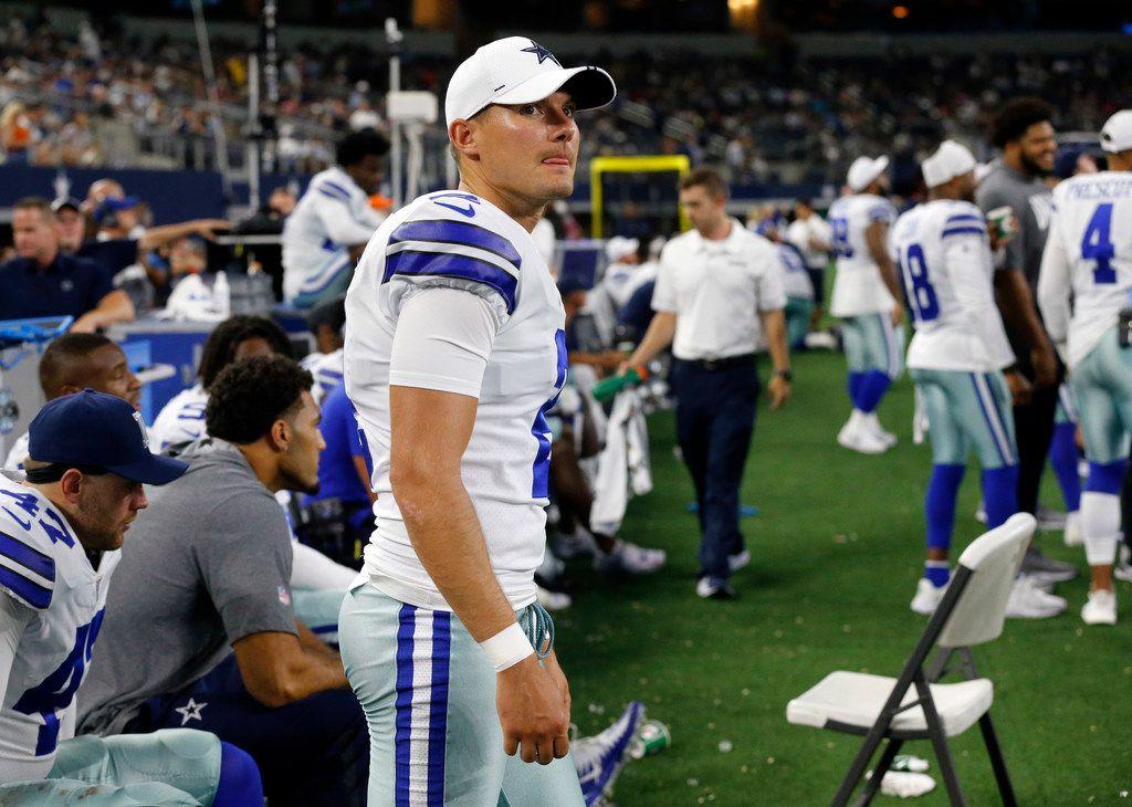 El pateador Brett Maher (2) de los Dallas Cowboys tiene los peores números de la NFL.