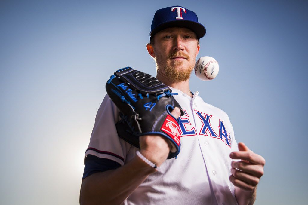 Texas Rangers pitcher Jake Diekman  photographed during spring training photo day at the team's training facility on Sunday, Feb. 28, 2016, in Surprise, Ariz. (Smiley N. Pool/The Dallas Morning News)