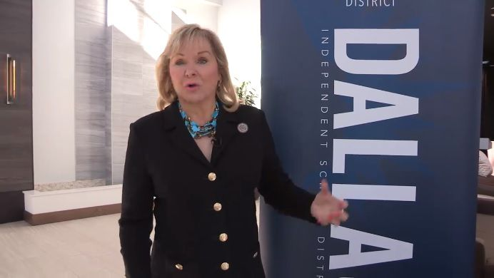 Oklahoma Gov. Mary Fallin uses a Dallas ISD recruiting fair in Oklahoma City as a backdrop to ask for more funding for her state's sputtering education system. Oklahoma ranks as one of the lowest-paying states for teachers, and has cut per-student funding more than any other state in the last decade.
