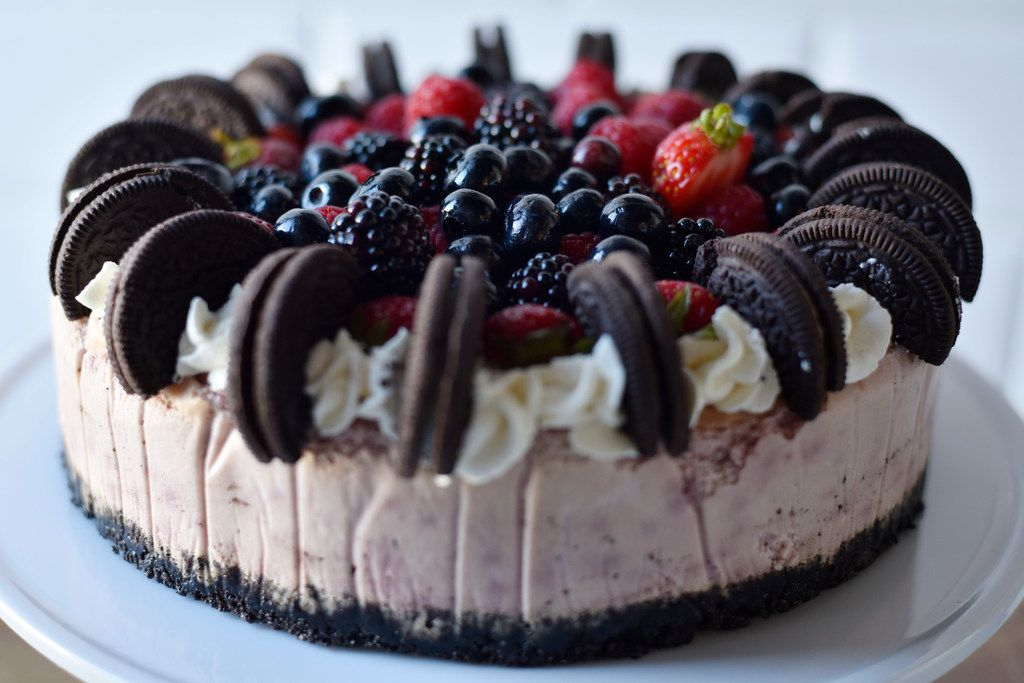 Berry Oreo Cheesecake from Val's Cheese Cakes in Dallas, July 11, 2019. Ben Torres/Special Contributor