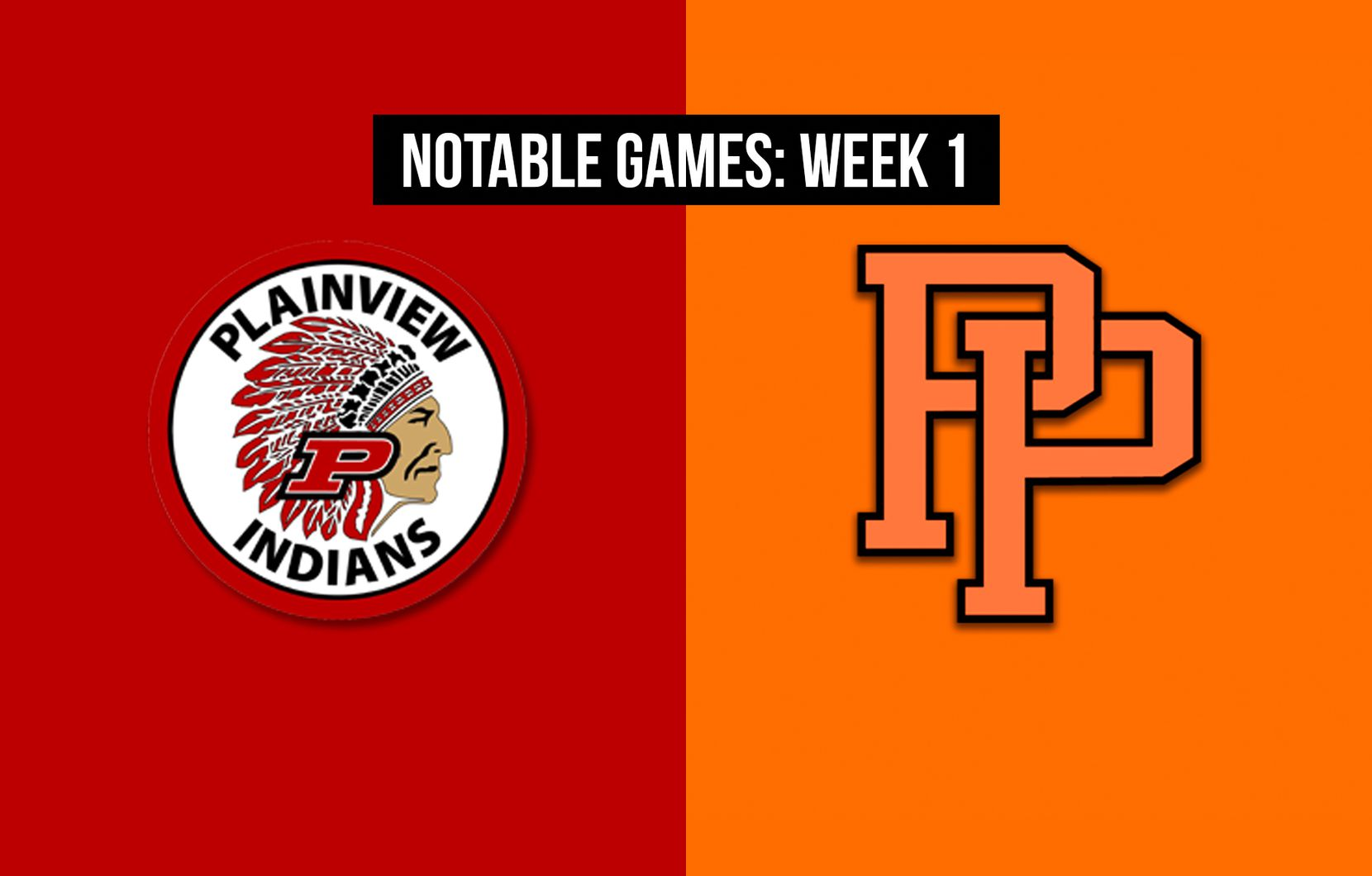 Notable games, Week 1 of the 2020 season: Plainview vs. Pilot Point.