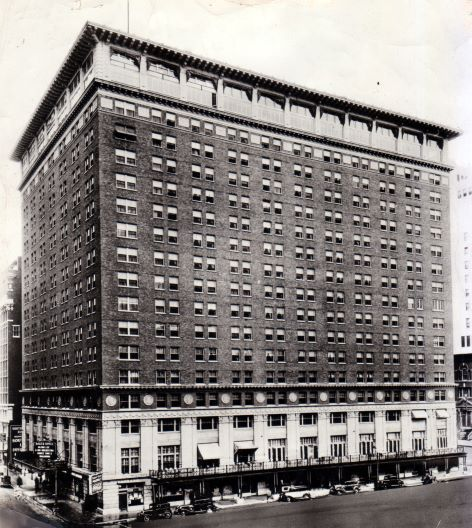 The Baker Hotel is seen in this photo circa 1937.