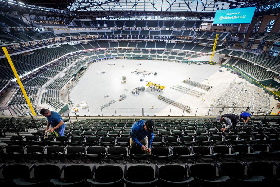 Los Texas Rangers quisieran estrenar su nuevo estadio en esta temporada de Grandes Ligas.