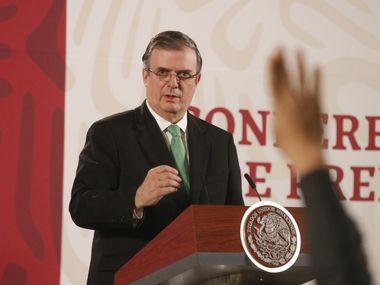 El Secretario de Relaciones exteriores mexicano, Marcelo Ebrard, habló del acuerdo con Estados Unidos para la circulación en la frontera.