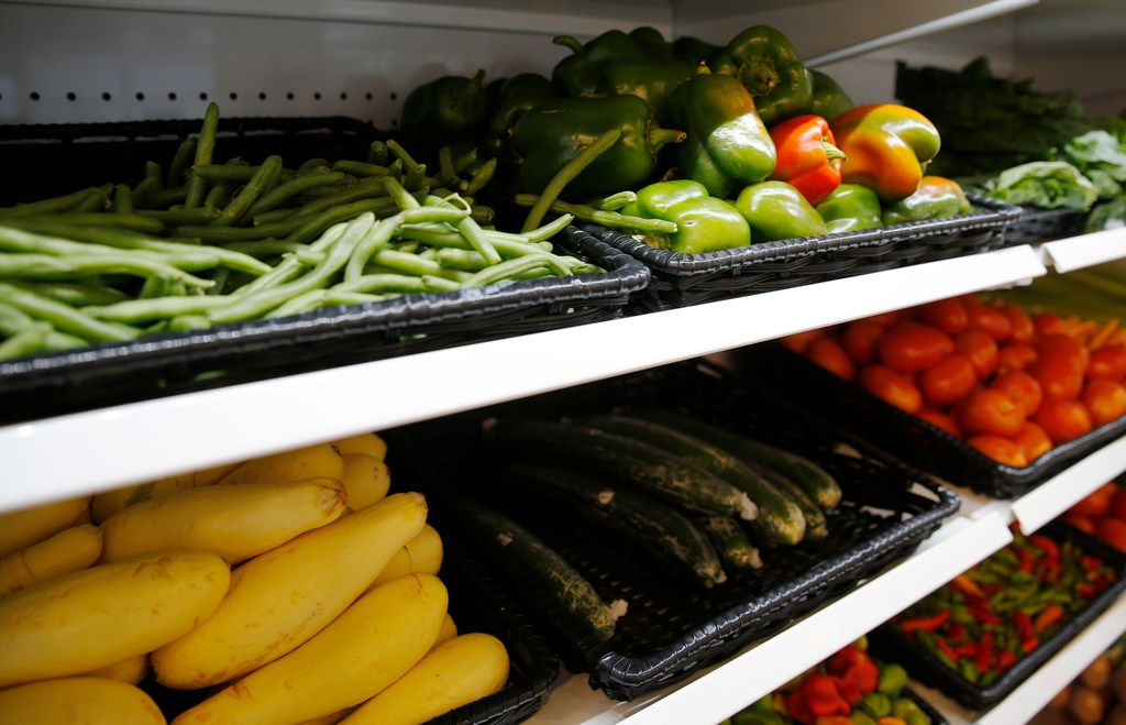 Bonton Farms offers vegetables, meat, milk, eggs and other items as well as dine-in or carryout meals.