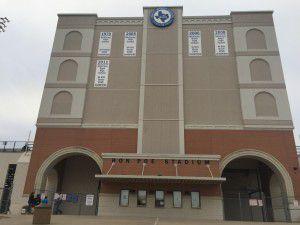 McKinney ISD's three high schools share the 7,000-seat Ron Poe Stadium that was built in 1962. (Nanette Light/Staff)