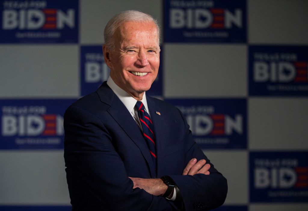 Former Vice President and Presidential Candidate Joe Biden poses for a portrait before an interview on Wednesday, January 15, 2020 at the Arlington Sheraton in Dallas.