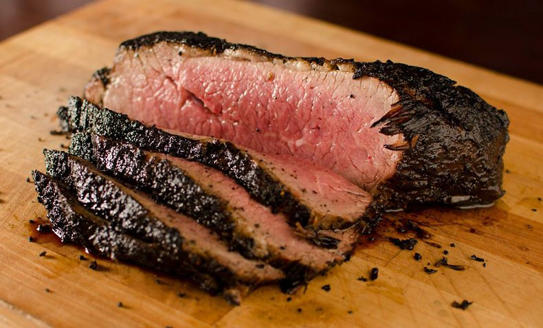 Tri Tip Grill's namesake dish is a char-roasted sirloin cut served in slices like Texas brisket. (Tri Tip Grill/Facebook)