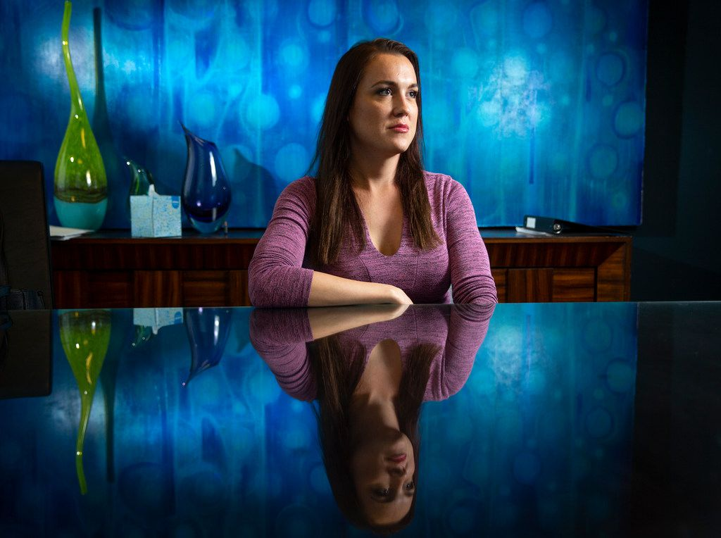 Valerie Jackson poses for a photograph at her lawyers' office in Addison on Tuesday. Jackson, 32, a transgender woman, filled a lawsuit against Dallas County alleging jailers ordered her to show her genitalia to them so they could determine her gender. Her lawsuit alleges that she was harassed and humiliated at the jail and that her constitutional rights were violated when she was housed with men.(