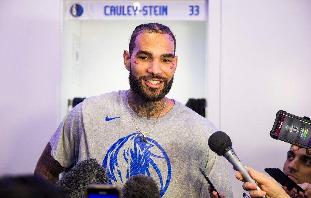 Dallas Mavericks center Willie Cauley-Stein (33) speaks to reporters in the locker room before an NBA game between the Dallas Mavericks and the Phoenix Suns on Tuesday, January 28, 2020 at the American Airlines Center in Dallas. (Ashley Landis/The Dallas Morning News)