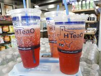Iced tea in cups are offered at HTeaO, including a new location in Garland.