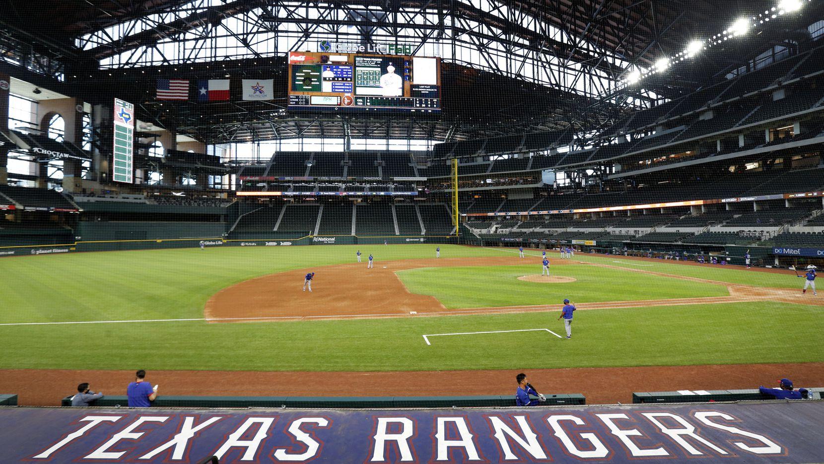 Los Texas Rangers inauguran su temporada de Grandes Ligas el 24 de julio recibiendo a los Rockies de Colorado en el Globe Life Field.