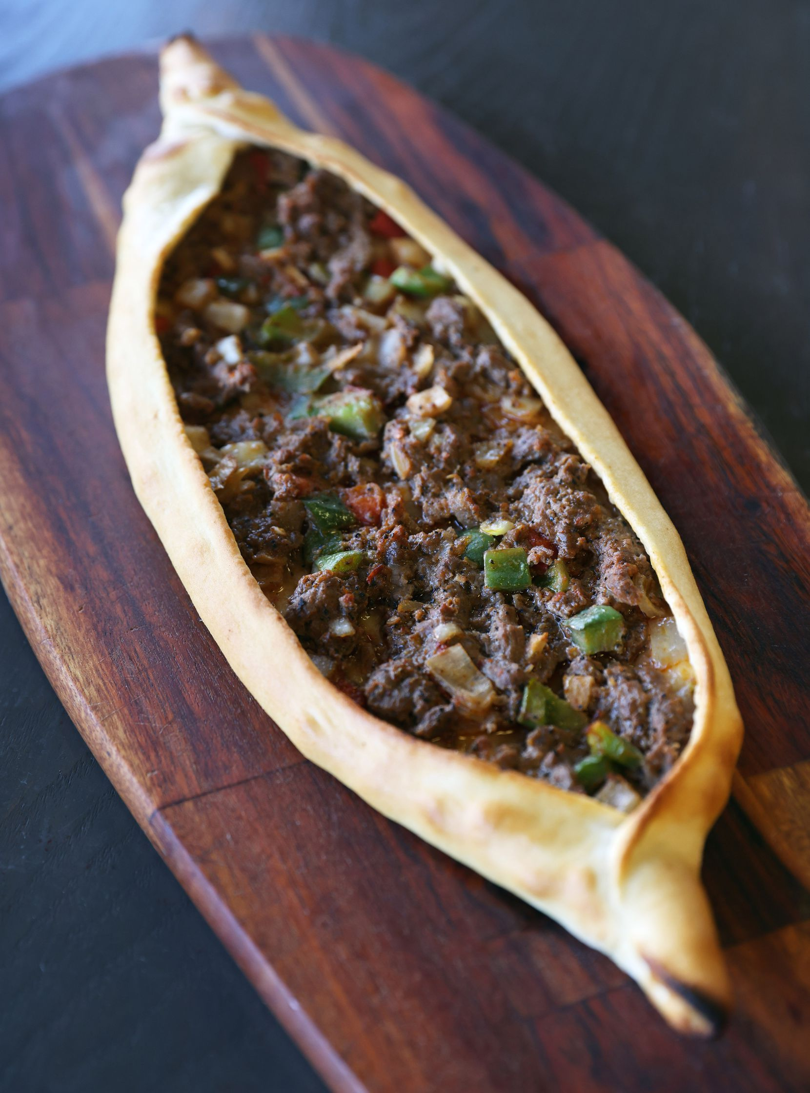 The kusbasili pide with diced beef is the one to try if you're visiting Lezzet Cafe for the first time.