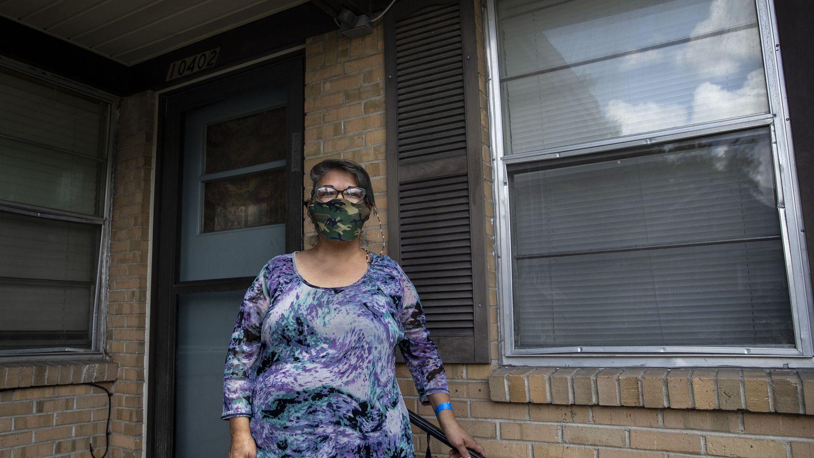 EneDina Rogers es una de las residentes del Norte de Texas que teme un posible desalojo de sus vivienda. Hay algunos recursos disponibles para ayudar a las familias.
