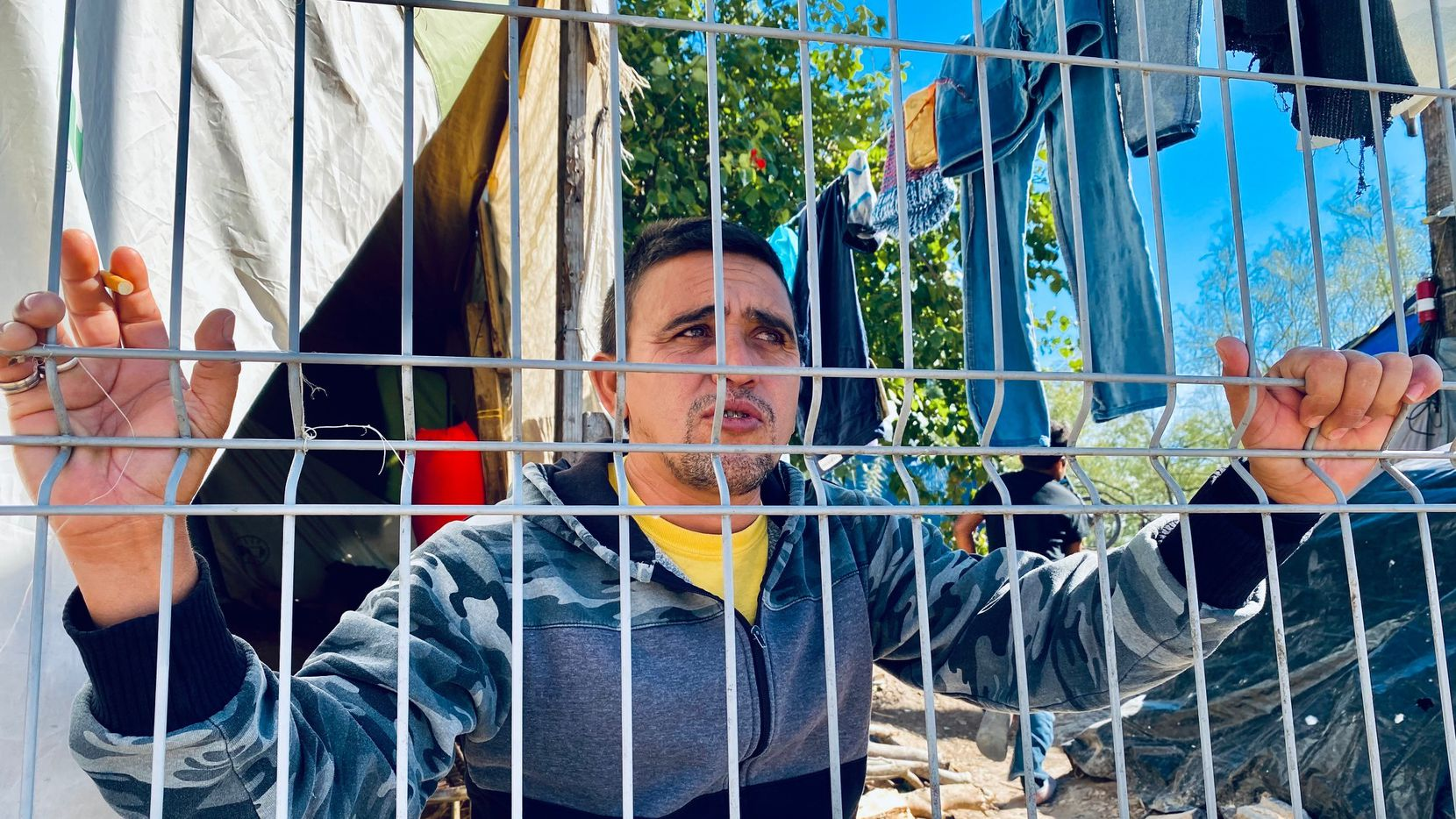 Roberto Valdivia has been stuck inside a migrant camp in Matamoros as part of a Trump-era policy, known as the Migrant Protection Protocols. Valdivia hopes the program ends under the new administration of President Joe Biden.