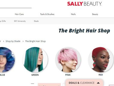 Vivid hair color sales continue to bring younger customers to Sally Beauty Supply.