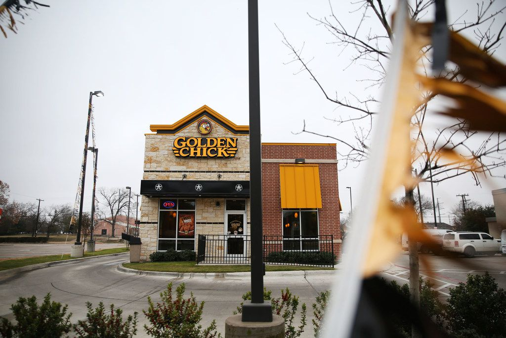 Golden Chick restaurant in South Dallas on Wednesday, Jan. 10, 2018.