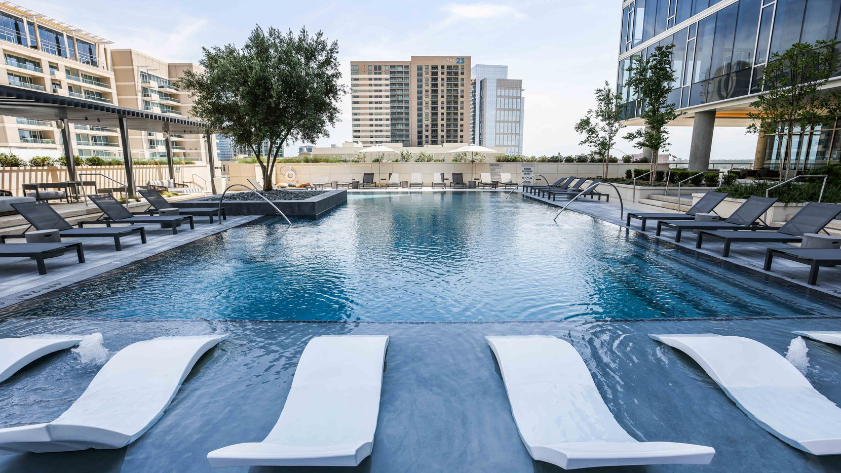Hines just completed its 40-story Victor apartment high-rise in Dallas' Victory Park.