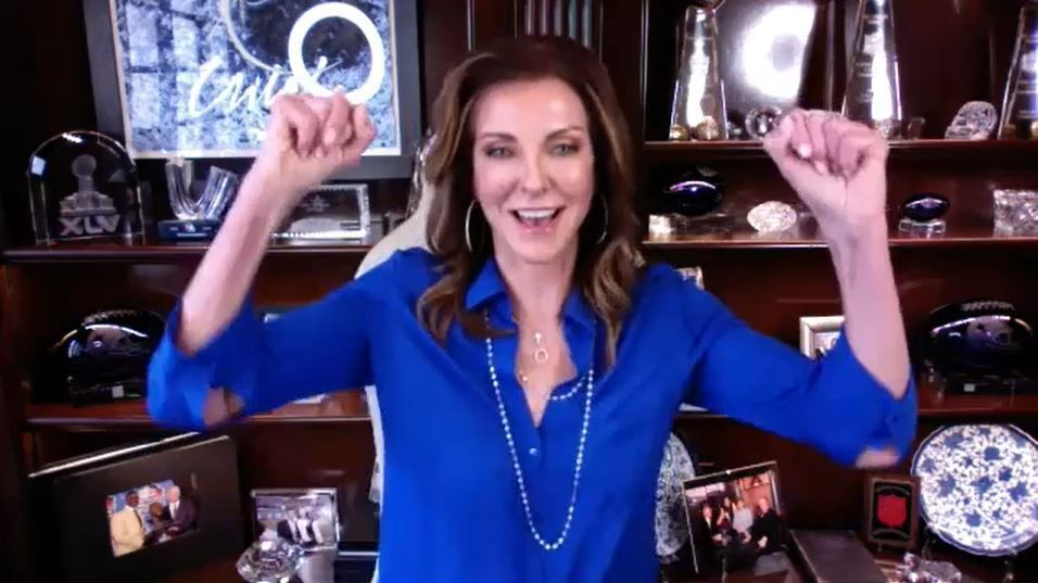 Charlotte Jones, executive vice president and chief brand officer of the Dallas Cowboys, celebrated the opening of Hope Lodge during a Zoom interview.