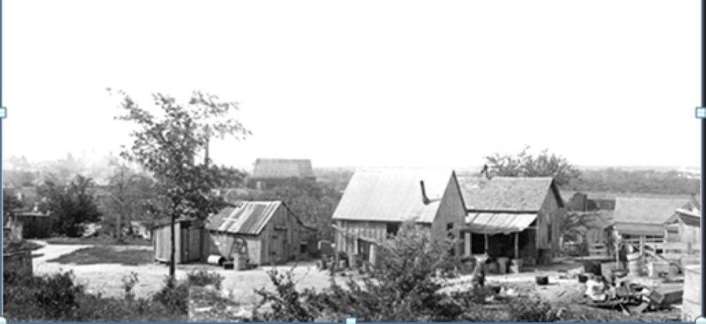 CREDIT: Dallas Municipal Archives // Housing in Dallas' Little Mexico / Little Jerusalem area from the 1912 from the Dallas Municipal Archives. [ Little Mexico in Dallas ]