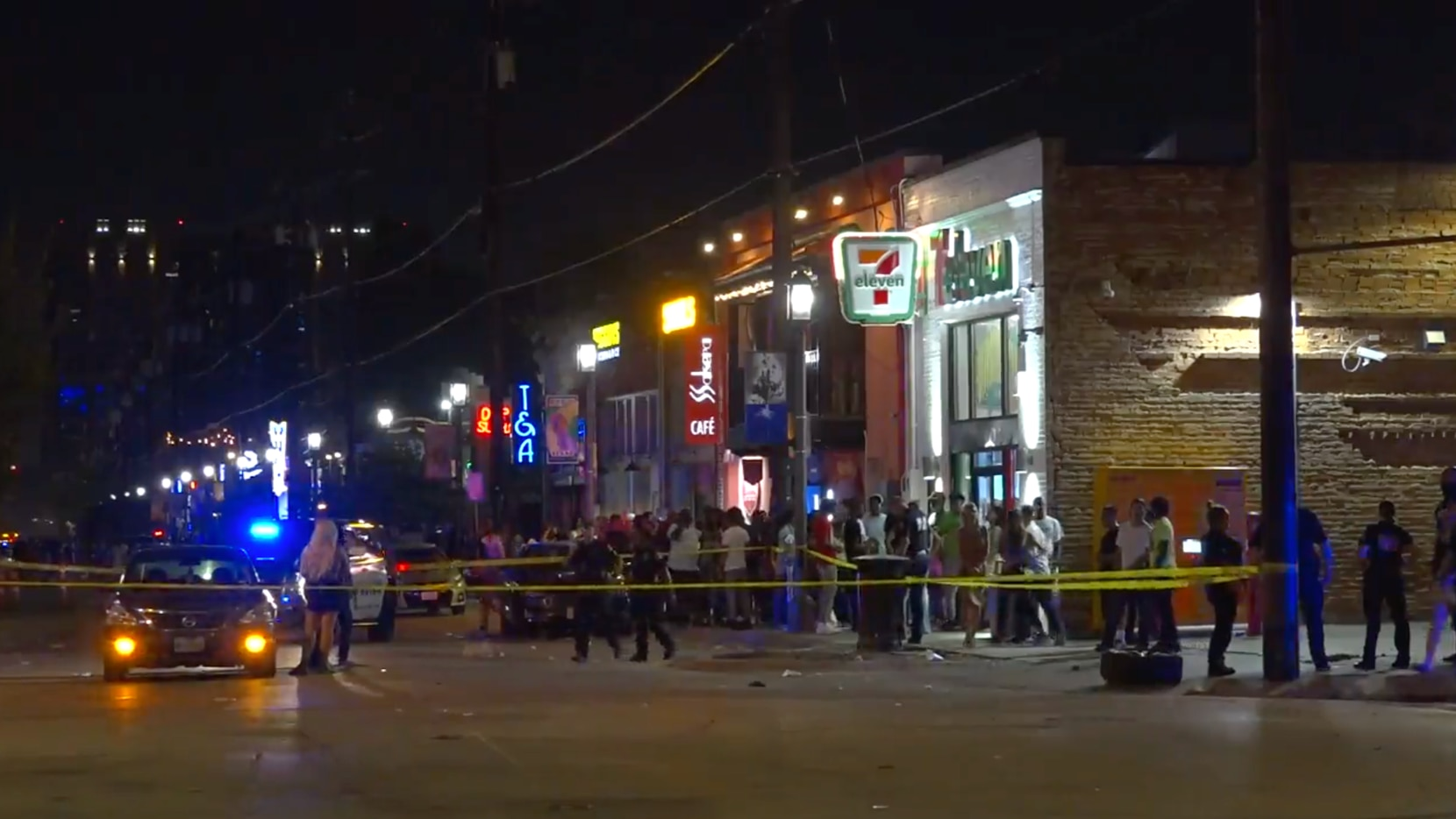 Police patrolling Deep Ellum early Sunday, Aug. 22, 2021, said the incident began when a gray Ford F-150 headed south on Crowdus Street drove through a police barricade at Elm Street.