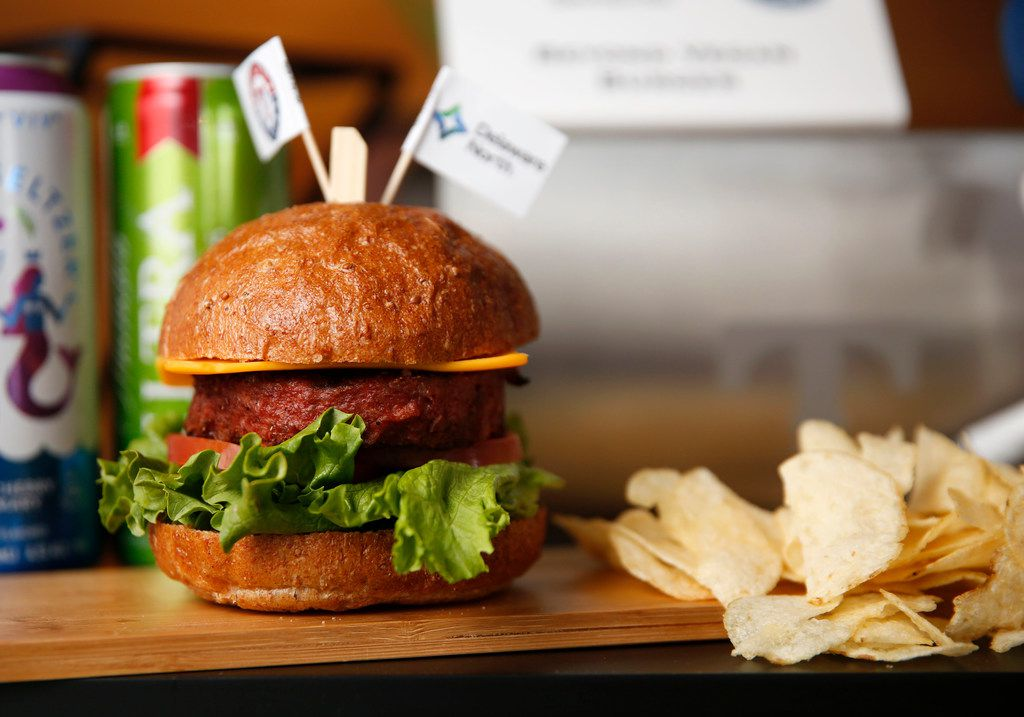"""The Beyond Meat vegan burger is one of two new vegan items at Globe Life Park in Arlington. Under a bill passed in the Texas House on Monday, companies that offer plant-based or other meat substitute products could be accused of misleading consumers if they use the terms """"meat"""" or """"beef"""" in their names."""