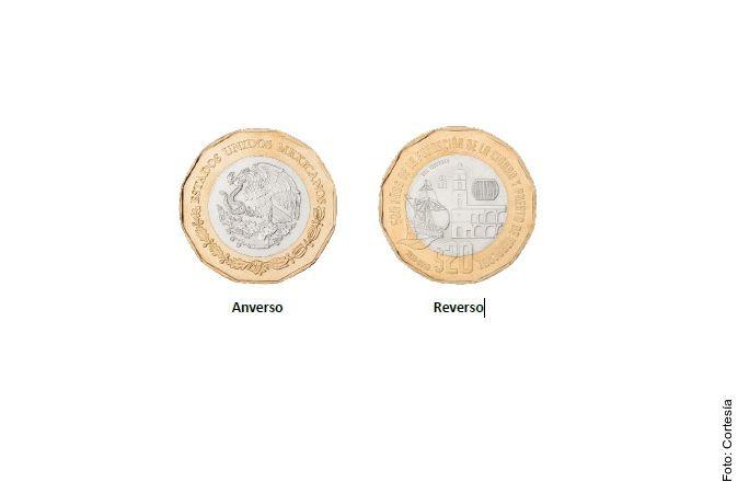 La nueva moneda de veinte pesos en México tiene una forma dodecagonal.