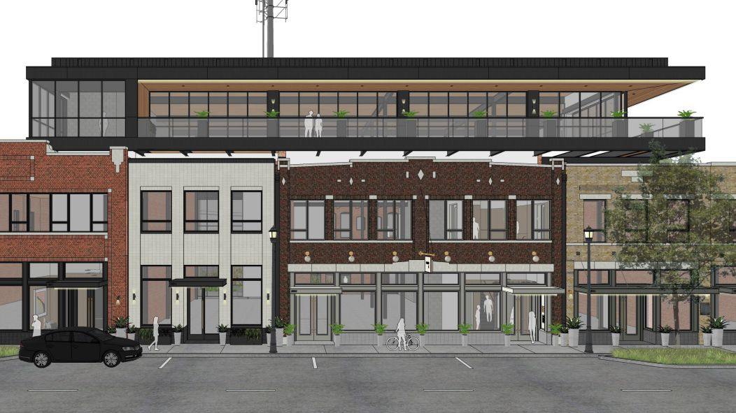 Westdale is redeveloping the block along Elm Street.